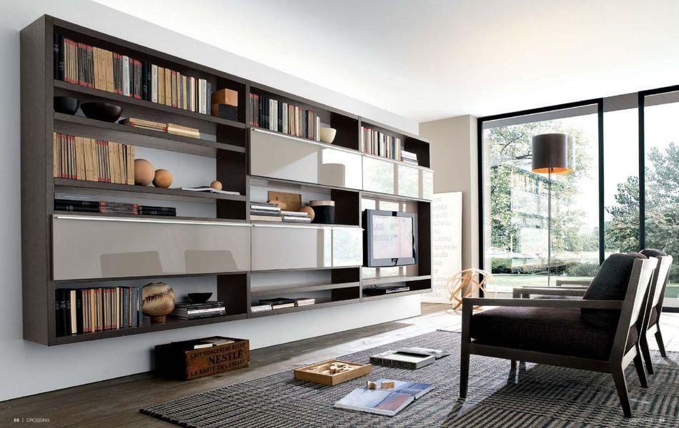 Шкаф в гостиную в современном стиле (52 фото).