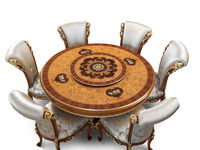 3166 round table with lazy susan, 2641 chair