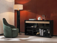 living-18 LUNA ARMCHAIR & RINDO FLOOR LAMP & JUBILEE CONSOLE TABLE