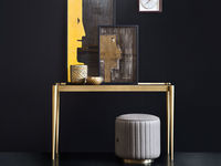 living-64 JOSEPHINE CONSOLE TABLE & LIPS POUFFE