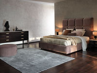 notte-1 FLORENCE BED & COBRA POUFFE & DANTE NIGHTSTAND